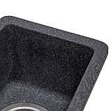 Мойка кухонная Solid Вега Плюс, антрацит (ДхШхГ-420х200х130), фото 5