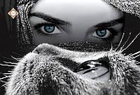 """""""Глаза в глаза""""Схема для частичной вышивки бисером. СЛ-3231"""
