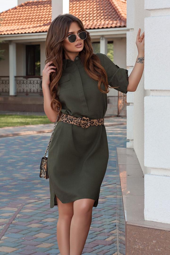 Платье - рубашка / лён / Украина 34-483, фото 1