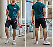 Мужской спортивный костюм, коттон-стрейч, двунитка, размер 48, 50, 52, 54,  черный, красный, электрик, бутылка, фото 3