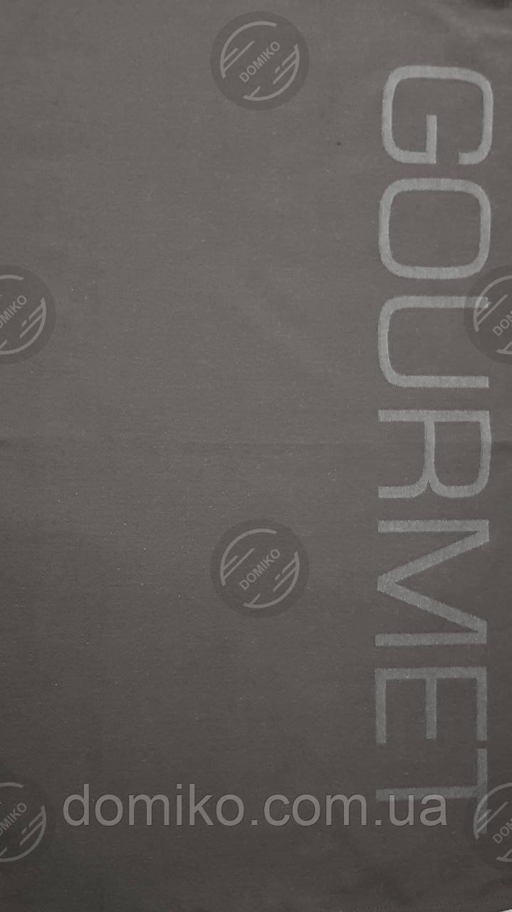 Кухонное жаккардовое полотенце серое Гурман Индия
