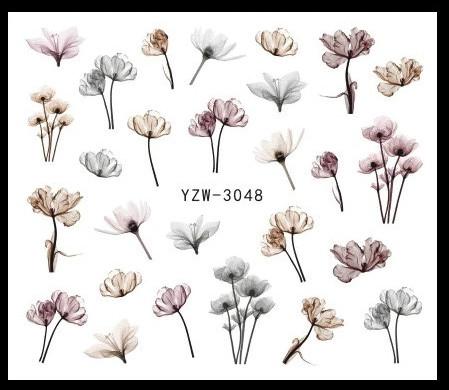 """Наклейки для ногтей """"Цветочки"""" YZW-3048"""