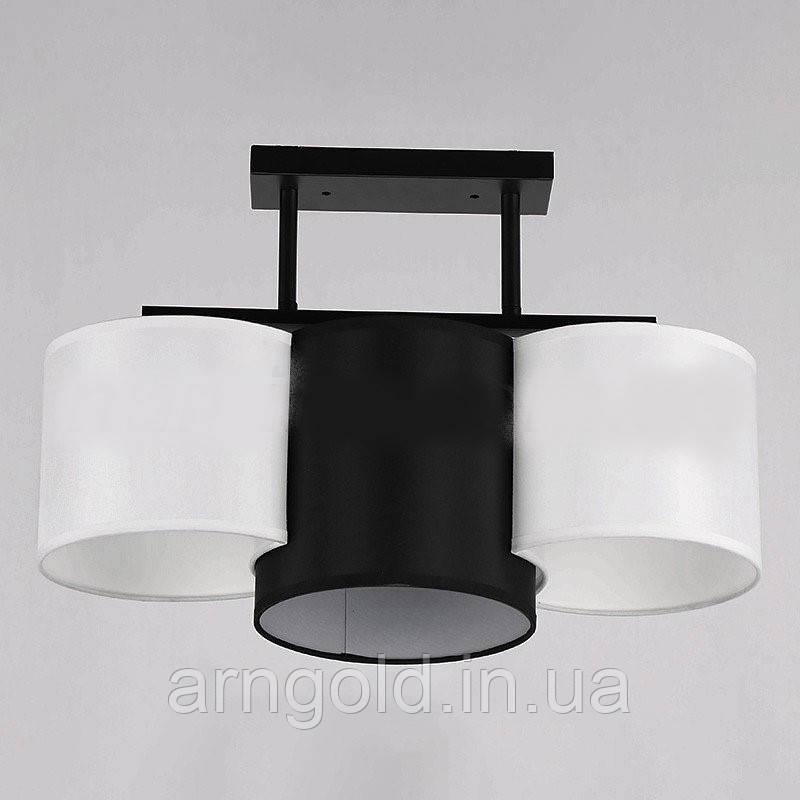 Люстра потолочная на три лампы 29-K048/3 BK+WT+BK