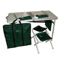 Набор туристической мебели (стол + 4 стула), чехол в подарок, фото 1