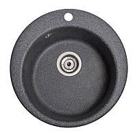 Мойка кухонная Пони, цвет - чёрный (ДхГ - 475х175)