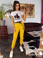 Джоггеры женские стильные с карманами разные цвета Bs67