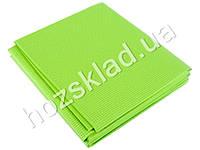 Йога-мат ПВХ зеленый 4мм 61x173см
