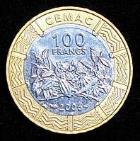 Монета Центральной Африки 100 франков 2006 г.