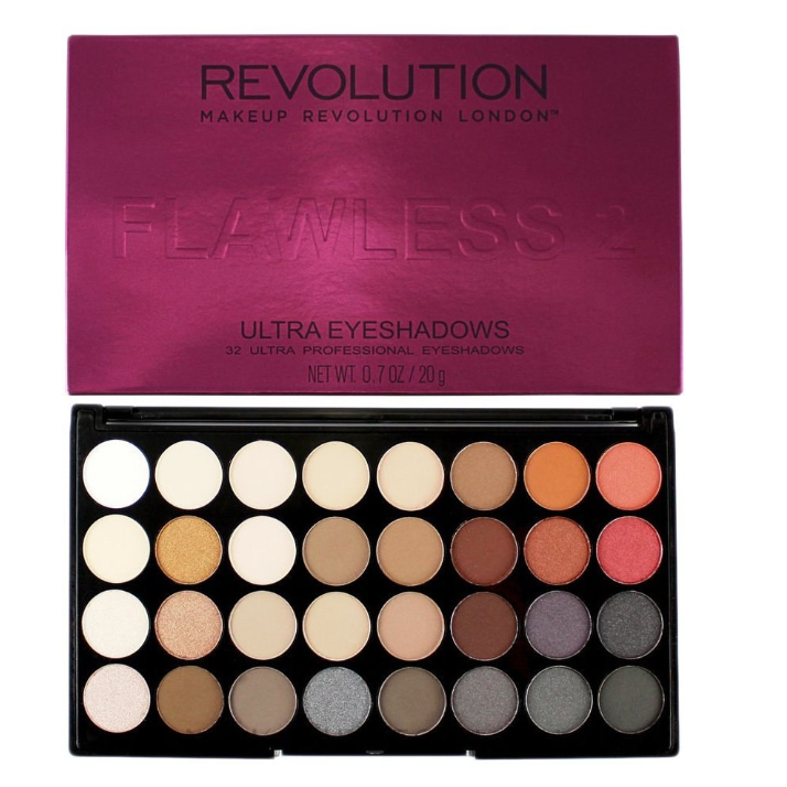 Тени для век Makeup Revolution Ultra 32 Shade Palette Flawless 2