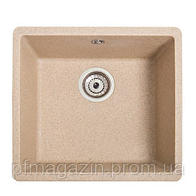 Мойка кухонная Solid Вега, песок (ДхШхГ-440х420х200)