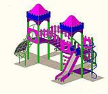 """Дитячий ігровий комплекс """"2 вежі"""" 1500, фото 2"""