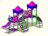 """Дитячий ігровий комплекс """"2 вежі"""" 1500, фото 4"""