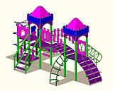 """Дитячий ігровий комплекс """"2 вежі"""" 1500, фото 3"""