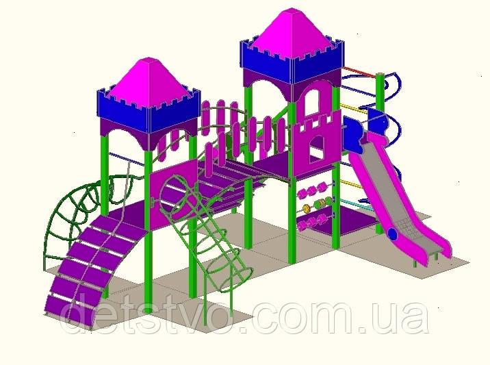 """Дитячий ігровий комплекс """"2 вежі"""" 1500"""