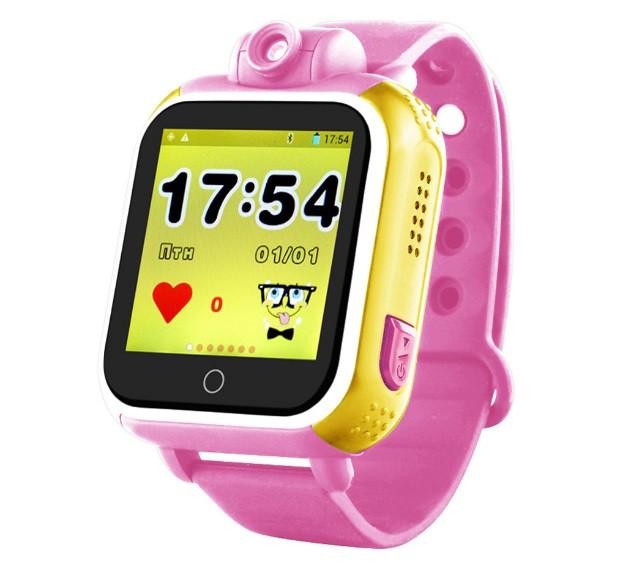 Детские Умные часы с GPS Q200 розовые