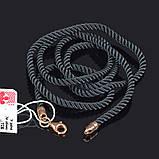 Шелковый крученый шнурок Милан с позолотой, фото 2