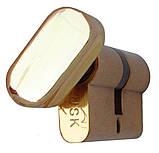 Цилиндровый механизм USK B-70 (30x40) ключ/поворотник Золото, фото 5