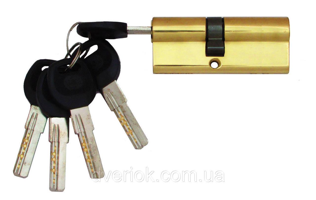 Цилиндровый механизм USK B-80 (35x45) ключ/ключ Золото