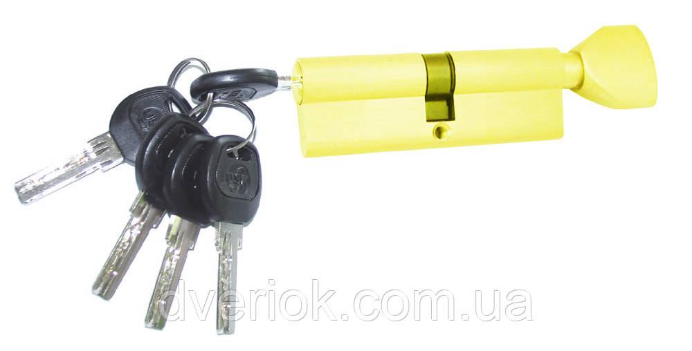 Цилиндровый механизм USK B-80 (40x40) ключ/поворотник Золото