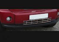 Dodge Nitro хром грати в бампер з нержавійки
