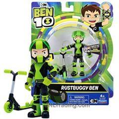 Бен 10 Фигурка Бен и гоночный скутер - развалюха, Rustbuggy Ben 10, оригинал из США