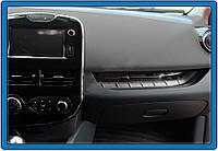 Накладка на переднюю консоль (нерж.) Renault Clio 4, фото 1