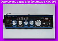 Усилитель звука для динамиков УКС 309,Усилитель звука AMP 309, звуковой усилитель!Лучший подарок