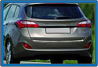 Hyundai I30 2012 Кромка багажника (SW, нерж)