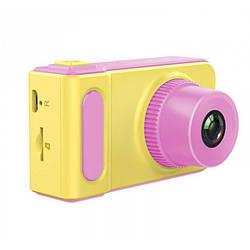 Дитячий цифровий фотоапарат Smart Kids Camera V7 Рожевий