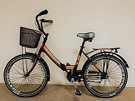 """Велосипед складной ARDIS FOLD 24"""" new 2020 черно-оранжевый"""
