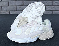 Кроссовки мужские в стиле Adidas Yung-1 белые ТОП реплика, фото 1