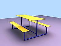 """Стол с двумя лавками """"Луч"""" (1,25)"""