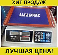 Весы торговые ALFASONIC AS-A072 до 50кг. платформа лодочкой