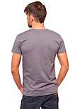Серая футболка мужская спортивная летняя без рисунка трикотажная хб (Украина), фото 2
