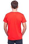 Футболка мужская спортивная летняя красная без рисунка трикотажная хб (Украина), фото 2