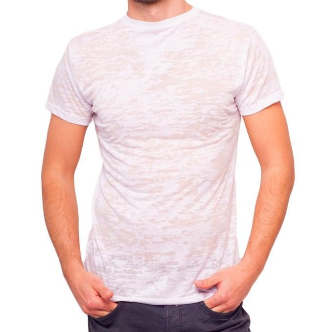 Белая летняя футболка мужская легкая трикотажная вискоза хб (Украина)
