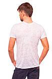 Белая летняя футболка мужская легкая трикотажная вискоза хб (Украина), фото 2
