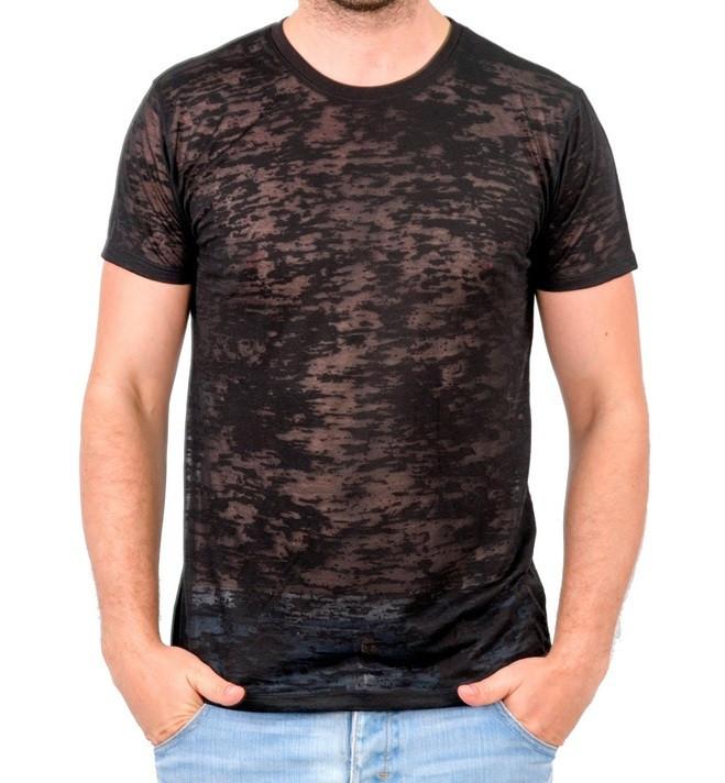 Чорна літня футболка чоловіча легка трикотажна віскоза хб (Україна)