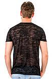 Чорна літня футболка чоловіча легка трикотажна віскоза хб (Україна), фото 2