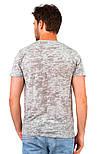 Серая летняя футболка мужская легкая трикотажная хлопковая хб (Украина), фото 2