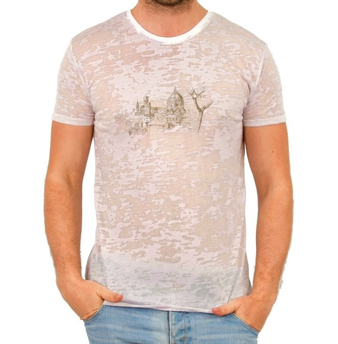 Літня футболка чоловіча тонка трикотажна віскоза хб рожева (Україна)
