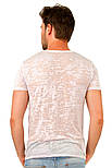 Летняя футболка мужская тонкая трикотажная вискоза хб розовая (Украина), фото 2