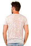 Літня футболка чоловіча тонка трикотажна віскоза хб рожева (Україна), фото 2