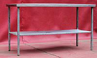 Стол производственный из нержавеющей стали с полкой 1900х600х850 см., (Украина), Б/у, фото 1
