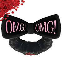 Повязка косметическая для волос нежно-розовая Double Dare OMG! Hair Band - Black