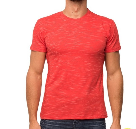 Красная футболка мужская летняя легкая трикотажная хб (Украина)