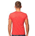Красная футболка мужская летняя легкая трикотажная хб (Украина), фото 2
