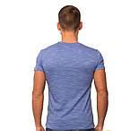 Футболка мужская летняя легкая синяя серая меланж трикотажная хб (Украина), фото 2