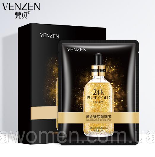 Лифтинг маска Venzen 24К Pure Gold Hydra 25 g (упаковка 10 штук)