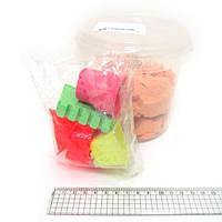 Набор кинетического песка в пластик.ведерке 0,5кг с форм. 6шт., mix6 (кварц.основа)